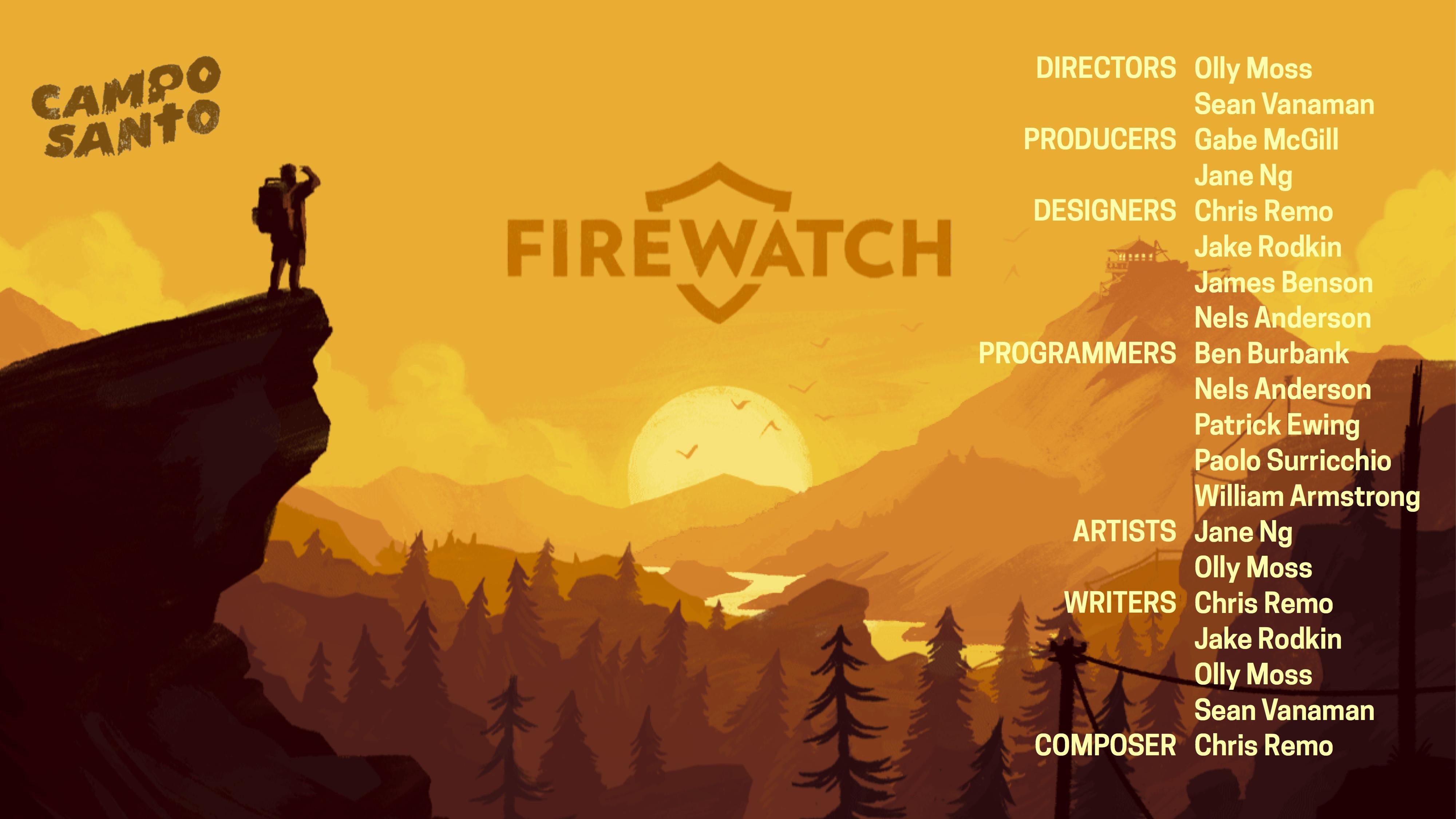 Firewatch Credits