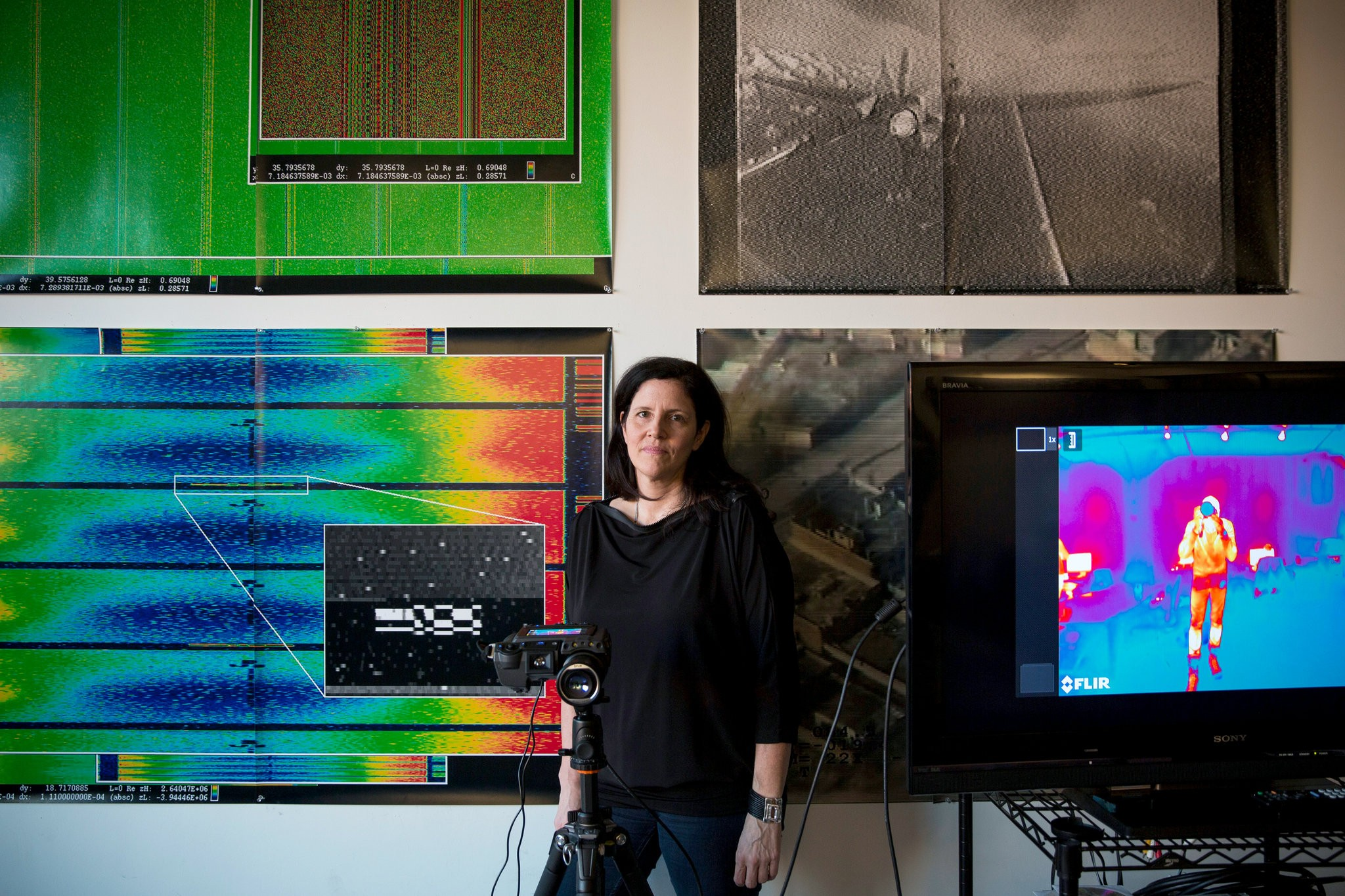 Laura Poitras at her studio in Tribeca