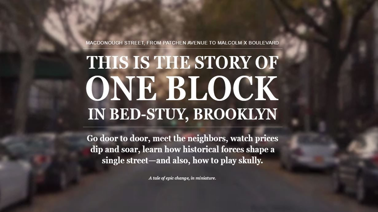 This is the story of one block